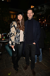 Sarah Ann Macklin and her brother Tom Macklin at The Ivy Chelsea Garden's Guy Fawkes Party, 197 King's Road, London, England. 05 November 2017.