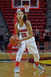 10 December 2017: Katrina Beck during an College Women's Basketball game between Illinois State University Redbirds and the Eagles of Eastern Michigan at Redbird Arena in Normal Illinois.
