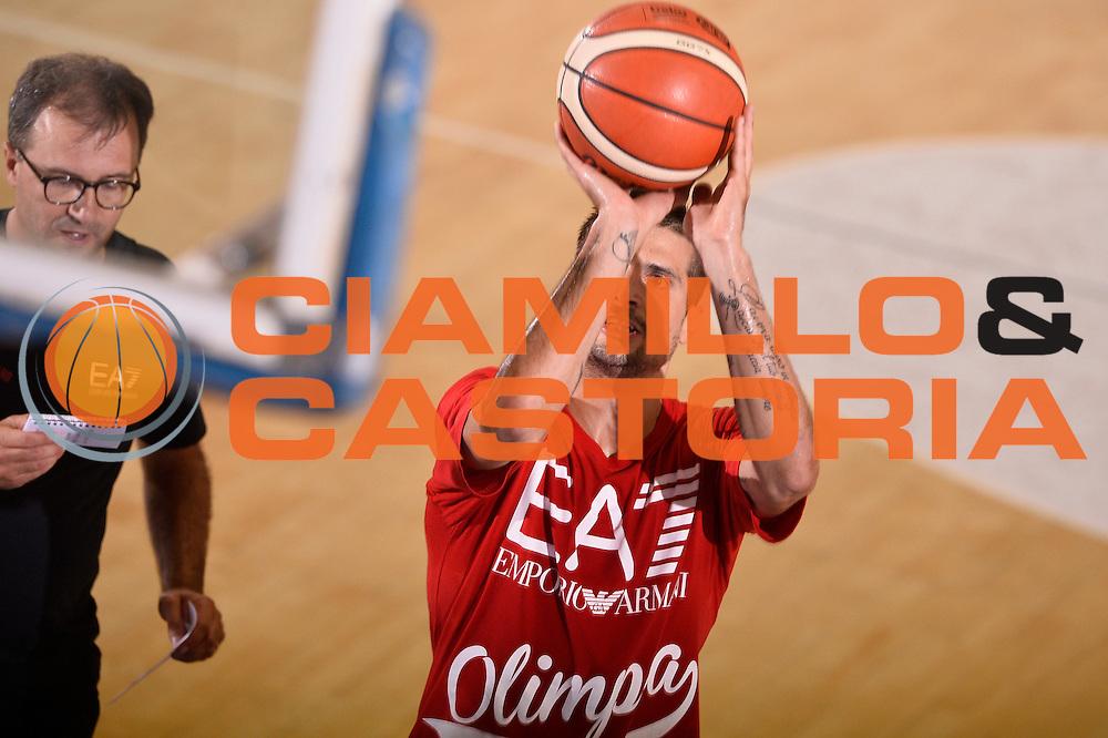 Andrea Cinciarini <br /> EA7 Emporio Armani Olimpia Milano allenamento <br /> Lega Basket Serie A 2016/2017<br /> Bormio 27/08/2016<br /> Foto Ciamillo-Castoria