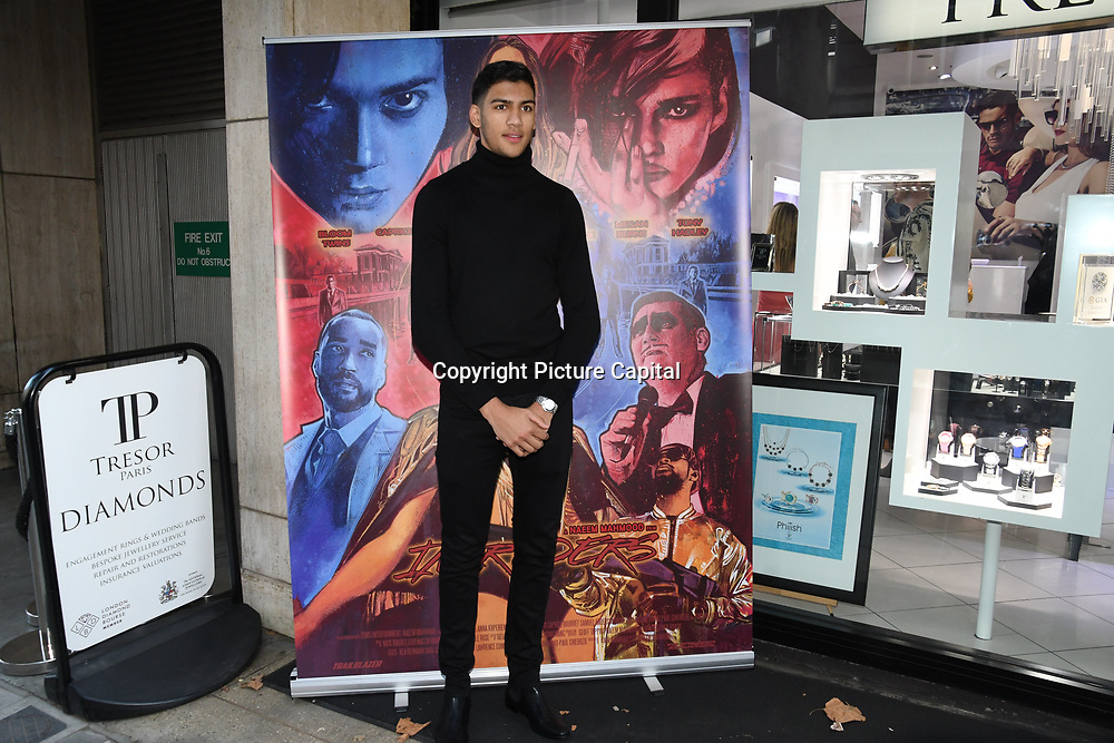 Hamzah Sheeraz is a professional boxer arrives at Tresor Paris In2ruders - launch at Tresor Paris, 7 Greville Street, Hatton Garden, London, UK 13th September 2018.