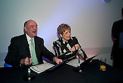 NICK KENYON; DEBORAH BORDA, LA Philharmonic reception, Fountain room, Barbican. 27 January 2011 -DO NOT ARCHIVE-© Copyright Photograph by Dafydd Jones. 248 Clapham Rd. London SW9 0PZ. Tel 0207 820 0771. www.dafjones.com.