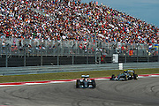 October 23, 2016: United States Grand Prix. Lewis Hamilton (GBR), Mercedes, Nico Rosberg  (GER), Mercedes