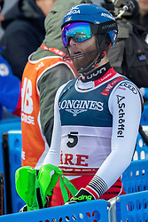 11.02.2019, Aare, SWE, FIS Weltmeisterschaften Ski Alpin, alpine Kombination, Herren, Slalom, im Bild Marco Schwarz (AUT) // Marco Schwarz of Austria reacts after the Slalom competition of the men's alpine combination for the FIS Ski World Championships 2019. Aare, Sweden on 2019/02/11. EXPA Pictures © 2019, PhotoCredit: EXPA/ Dominik Angerer