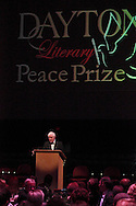 MC Nick Clooney speaks during the 2012 Dayton Literary Peace Prize dinner and awards presentation at the Schuster Center in downtown Dayton, Sunday, November 11, 2012..