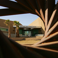 Crystal Chatham The Desert Sun<br /> <br /> 10/16/2008 -- The Palm Desert Health Science Building is photographed on Thursday, October 16 during the building's dedication at the Palm Desert Campus of California State University, San Bernardino. The university's fall quarter began September 25.