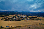 Sacsayhuaman Inca ruins of stone fortress outisde Cuzco, South America