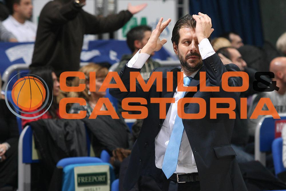 DESCRIZIONE : Bologna Lega A1 2007-08 Upim Fortitudo Bologna Pierrel Capo D'Orlando <br /> GIOCATORE : Andrea Mazzon<br /> SQUADRA : Upim Fortitudo Bologna <br /> EVENTO : Campionato Lega A1 2007-2008 <br /> GARA : Upim Fortitudo Bologna Pierrel Capo D'Orlando  <br /> DATA : 24/11/2007 <br /> CATEGORIA : Delusione Ritratto<br /> SPORT : Pallacanestro <br /> AUTORE : Agenzia Ciamillo-Castoria/M.Marchi