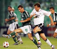 Fotball, 14. september,  UEFA Champions League, Panathinaikos - Rosenborg, ,  Roar Strand, Rosenborg og  Papadopoulos, Panathinaikos