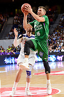 Real Madrid's Rudy Fernandez and Unicaja Malaga's Nemanja Nedovic during semi finals of playoff Liga Endesa match between Real Madrid and Unicaja Malaga at Wizink Center in Madrid, May 31, 2017. Spain.<br /> (ALTERPHOTOS/BorjaB.Hojas)