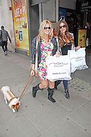 LONDON - April 29: Francesca Hull & Gabriella Ellis shopping in Oxford Street (Photo by Brett D. Cove)