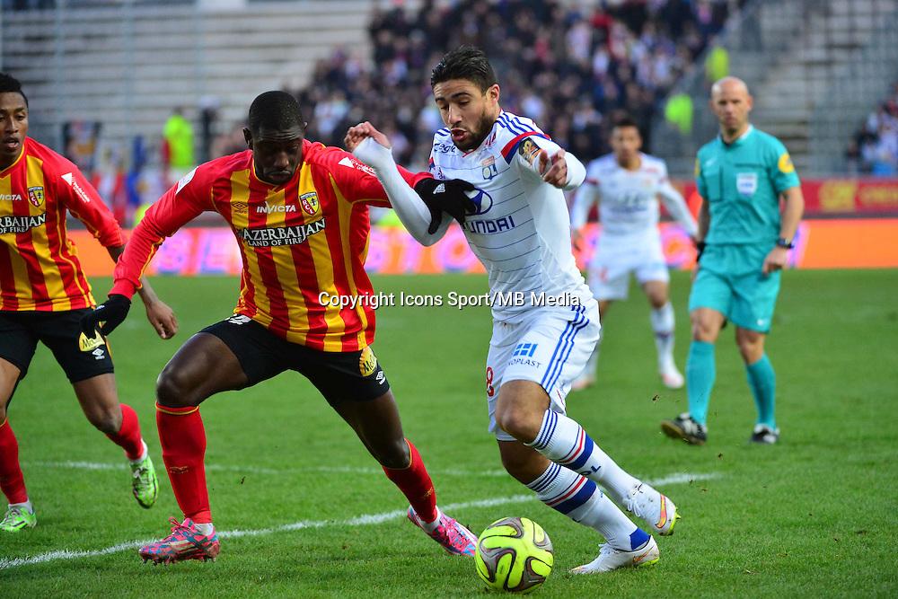 Nabil FEKIR / Boubacar SYLLA - 17.01.2015 - Lens / Lyon - 21eme journee de Ligue 1 <br />Photo : Dave Winter / Icon Sport