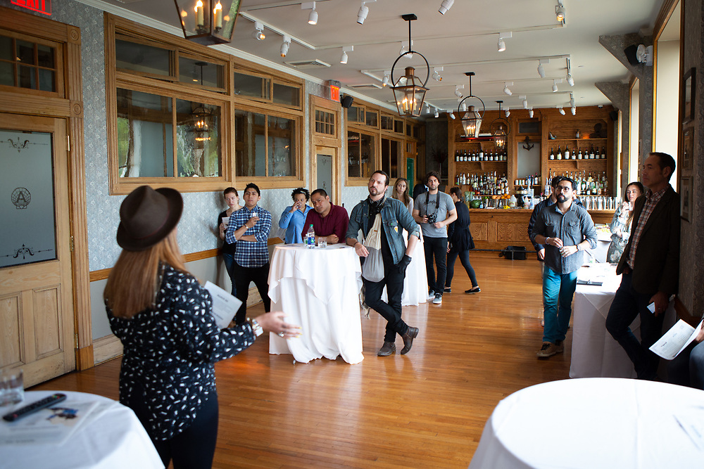 New York, NY - June 4, 2018: Edible Manhattan's Collective gathers for a presentation by Sombro Mezcal at Pier A Harbor House in Battery Park. <br /> <br /> CREDIT: Clay Williams for Edible Manhattan.<br /> <br /> © Clay Williams / http://claywilliamsphoto.com