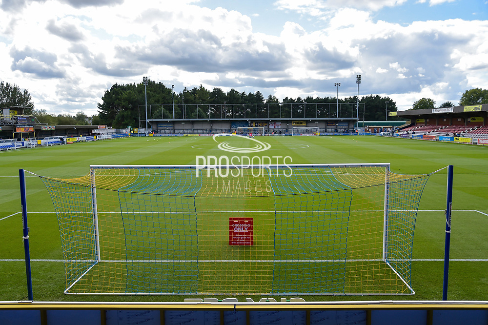 The Stadium before kick off during the EFL Sky Bet League 1 match between AFC Wimbledon and Portsmouth at the Cherry Red Records Stadium, Kingston, England on 9 September 2017. Photo by Adam Rivers.