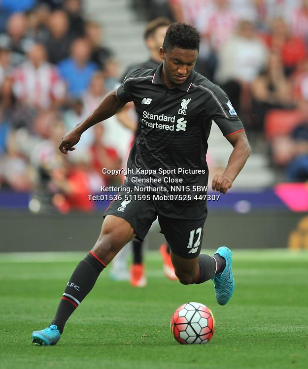 JOSE GOMEZ LIVERPOOL, Stoke City v Liverpool, Premiership, Britannia Stadium Sunday 9th August 2015