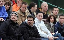 Spectators at rugby match between National team of Slovenia (green) and Israel (blue) at European Championship of C group 3rd division, on April 26, 2008, in Stanezice, Ljubljana, Slovenia. Match was won by Slovenia 17:5. Team of Slovenia: Potnik, Slapni?ar, Mikli?, Gobec, Krsmanovi?, Milju?, Duh, Djuratovi?, Troppan, Kav?i? (kap.), Kralj, Volav?ek U., Arko, Kos, Burnik, Lazi?, Zavr?an, Spreizer, Jovi?, Volav?ek D., Magu?ar, Dragman (Photo by Vid Ponikvar / Sportal Images)/ Sportida)