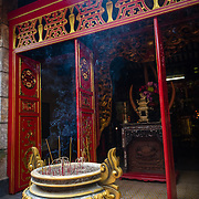 Incense burning at  Lang Ong Pagoda in Saigon