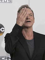 November 20, 2016 - Los Angeles, California, U.S - Sting on the Red Carpet of the 2016 American Music  Awards held on Sunday, November 20, 2016 at the Microsoft  Theatre in Los Angeles, California. (Credit Image: © Prensa Internacional via ZUMA Wire)