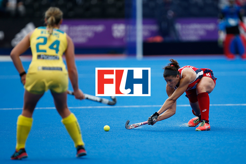 LONDON, ENGLAND - JUNE 18:  Rachel Dawson of the USA during the FIH Women's Hockey Champions Trophy 2016 match between United States and Australia at Queen Elizabeth Olympic Park on June 18, 2016 in London, England.  (Photo by Joel Ford/Getty Images)