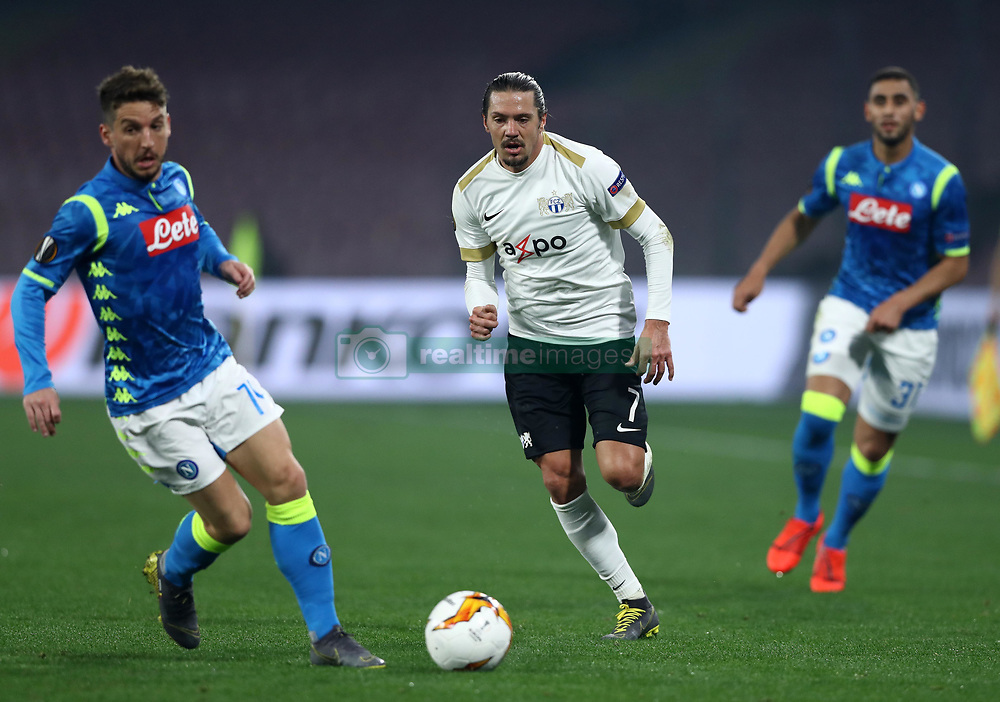 February 21, 2019 - Rome, Italy - SSC Napoli v FC Zurich - UEFA Europa League Round of 32.Adrian Wnter of Zurich at San Paolo Stadium in Naples, Italy on February 21, 2019. (Credit Image: © Matteo Ciambelli/NurPhoto via ZUMA Press)