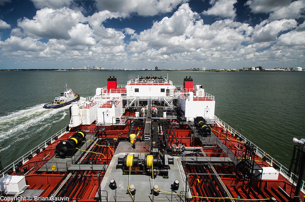 Approaching Tampa, Fl. ATB, Legacy and barge 750-1, Crowley Maritime. Transporting primium and regular grade gasoline from Marathon Oil in Garryville, La. to Port Everglades and Tampa Florida.