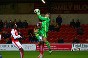 Walsall FC goalkeeper Neil Etheridge during the Sky Bet League 1 match between Fleetwood Town and Walsall at the Highbury Stadium, Fleetwood, England on 15 March 2016. Photo by Pete Burns.