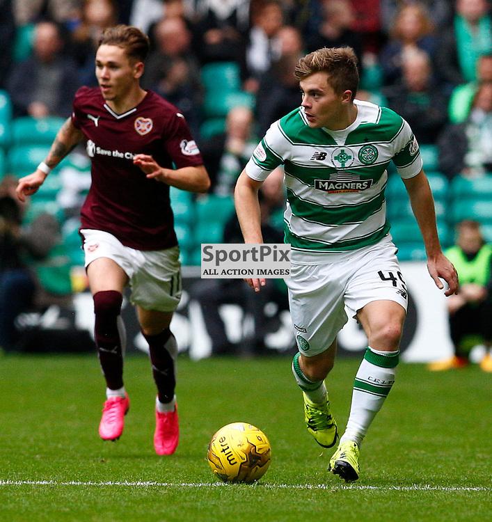 Celtic v Hearts.....James Forrest runs up the wing..(c) STEPHEN LAWSON | SportPix.org.uk