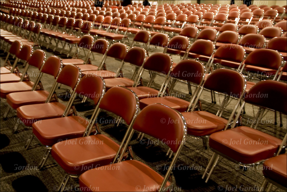 Patterns of repeating of rows of chairs