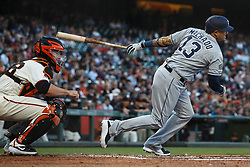 SAN FRANCISCO, CA - JUNE 12: Manny Machado #13 of the San Diego Padres at bat against the San Francisco Giants during the third inning at Oracle Park on June 12, 2019 in San Francisco, California. The San Francisco Giants defeated the San Diego Padres 4-2. (Photo by Jason O. Watson/Getty Images) *** Local Caption *** Manny Machado