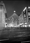 Christmas lights and decorations, O'Connell Street and Henry Street, Dublin..14.12.1967
