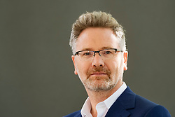"""Edinburgh, Scotland, UK. 25 August, 2018. Pictured; Adam Tooze, Columbia University Professor of History. His book """"Crashed"""" is the first major effort by a historian to gauge the scale of the upheaval following global financial crisis."""