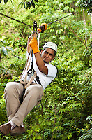 Adventure canopy/zipline tour near Lapa Rios Ecolodge, Osa Peninsula, Costa Rica.