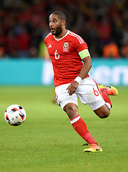 Ashley Williams of Wales  - Mandatory by-line: Joe Meredith/JMP - 01/07/2016 - FOOTBALL - Stade Pierre Mauroy - Lille, France - Wales v Belgium - UEFA European Championship quarter final