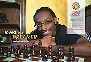 """Seeds of Hope's """"Invest In A Dreamer"""" campaign featuring scholar Dominique Myers. Photography by Yoshi James. Design and layout by Leah Haines."""
