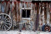 USA, Idaho, Owyhee County, On the Collet Farm near Grand View, An Old Barn
