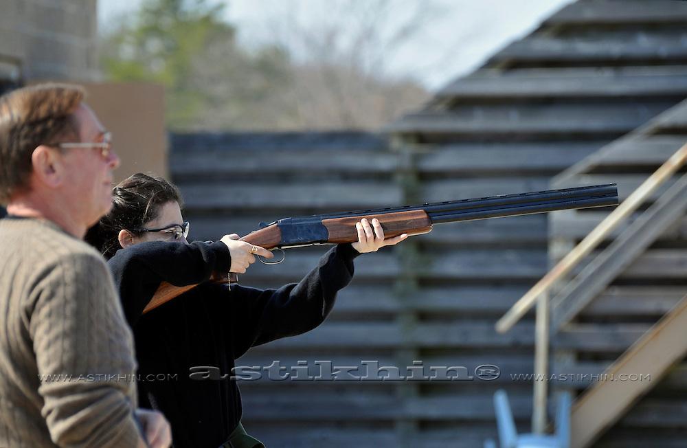 Alina on shooting range