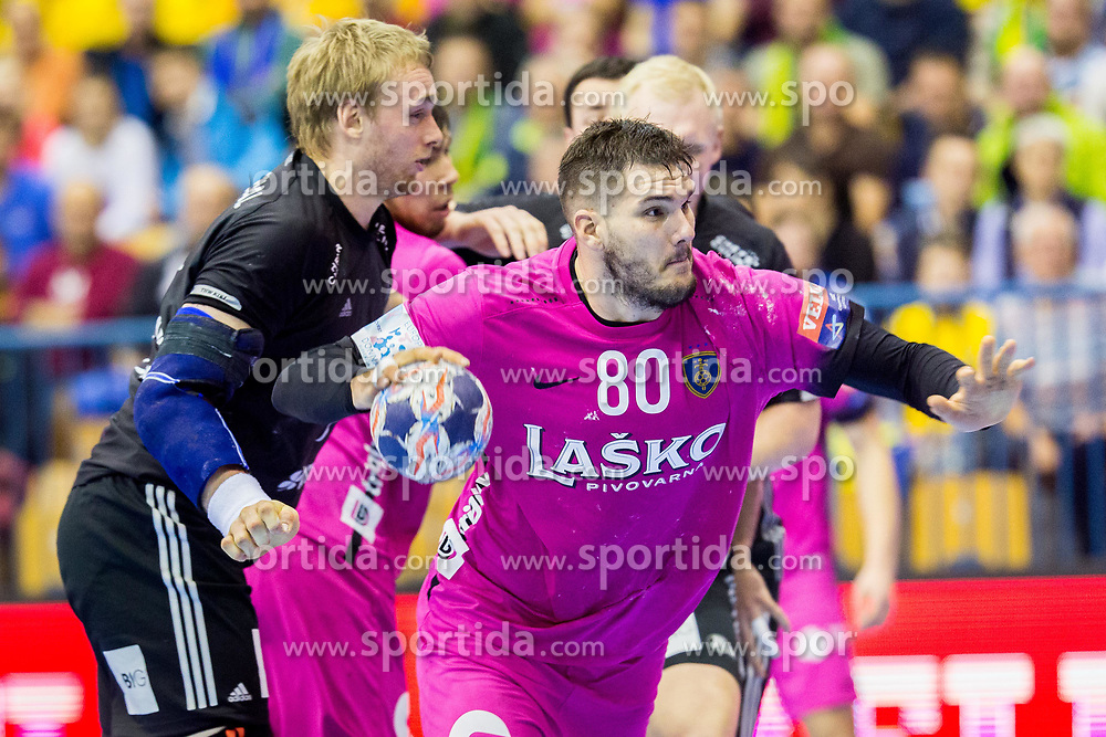 Kristian Beciri of RK Celje Pivovarna Lasko during handball match between RK Celje Pivovarna Lasko and THW Kiel in Group Phase A+B of VELUX EHF Champions League, on November 19, 2017 in Arena Zlatorog, Celje, Slovenia. Photo by Ziga Zupan / Sportida