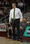 Feb 15, 2018; Los Angeles, CA, USA; Oregon Ducks coach Dana Altman reacts during an NCAA basketball game against the Southern California Trojans at Galen Center. USC defeated Oregon 72-70.