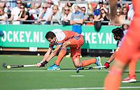 WAALWIJK -  RABO SUPER SERIE . Jonas de Geus (Ned)  tijdens  de hockeyinterland heren  Nederland-India (3-4),  ter voorbereiding van het EK,  dat vrijdag 18/8 begint.  COPYRIGHT KOEN SUYK