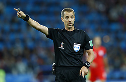 July 3, 2018 - Moscow, Russia - Round of 16 England v Colombia - FIFA World Cup Russia 2018.The referee Geiger (USA) at Spartak Stadium in Moscow, Russia on July 3, 2018. (Credit Image: © Matteo Ciambelli/NurPhoto via ZUMA Press)