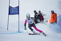 Gus Pitou memorial giant slalom with Gunstock Ski Club.  ©2016 Karen Bobotas Photographer