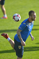 November 13, 2017 - Mogosoaia, Romania - Denis Alibec of Romania Football Team during a training session at Mogosoaia, Romania on 13 November 2017. (Credit Image: © Alex Nicodim/NurPhoto via ZUMA Press)