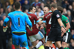18th February 2017 - FA Cup - 5th Round - Burnley v Lincoln City - Joey Barton of Burnley gets caught up in a melee - Photo: Simon Stacpoole / Offside.