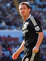 A determined look from Chelsea midfielder Frank Lampard during the Barclays Premier League match between Aston Villa and Chelsea at Villa Park on February 21, 2009 in Birmingham, England.