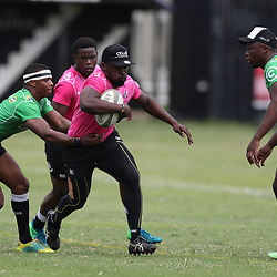 Grant Williams of the Cell C Sharks looks to tackle Lwazi Mvovo of the Cell C Sharks during the Cell C sharks training at Jonsson Kings Park ,Durban.South Africa. 08,10,2018 (Photo by Steve Haag)