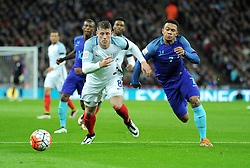 Ross Barkley of England battles for the ball with Memphis Depay of the Netherlands  - Mandatory by-line: Alex James/JMP - 29/03/2016 - FOOTBALL - Wembley Stadium - London, United Kingdom - England v Netherlands - International Friendly