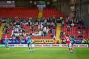 FGR away support during the EFL Cup match between Charlton Athletic and Forest Green Rovers at The Valley, London, England on 13 August 2019.