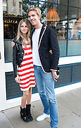 CARA DELEVIGNE; JAMES COOK, Willow launch.  The Riding House Cafe, Great Titchfield St. London. 22 June 2011. <br /> <br />  , -DO NOT ARCHIVE-© Copyright Photograph by Dafydd Jones. 248 Clapham Rd. London SW9 0PZ. Tel 0207 820 0771. www.dafjones.com.