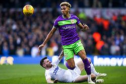 Lloyd Kelly of Bristol City takes on Stuart Dallas of Leeds United - Mandatory by-line: Robbie Stephenson/JMP - 24/11/2018 - FOOTBALL - Elland Road - Leeds, England - Leeds United v Bristol City - Sky Bet Championship