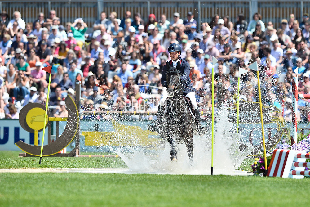 Emeric GEORGE (FRA) riding ATOMIC BOMB during the Derby Region Pays de la Loire Competition of the International Show Jumping of La Baule 2018 (Jumping International de la Baule), on May 19, 2018 in La Baule, France - Photo Christophe Bricot / ProSportsImages / DPPI