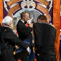 Orangmen march in Edinburgh